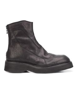 JULIUS | Back Zip Ankle Boots 9 Leather/Rubber
