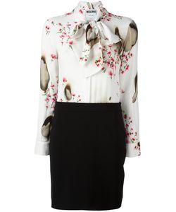Moschino | Комбинированное Платье С Завязками На Шее