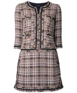 LOVELESS | Collarless Tweed Dress 34 Cotton/Acrylic/Nylon/Polyester