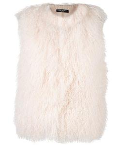 Yves Salomon Accessories | Sleeveless Jacket 40 Silk/Polyester/Lamb Fur
