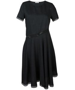 P.A.R.O.S.H. | Lace Trim Flared Dress Xs Cotton/Polyamide/Virgin Wool