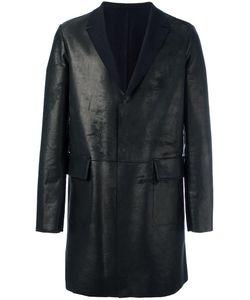 SALVATORE SANTORO   Midi Leather Jacket 54 Cotton/Leather