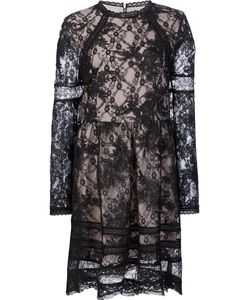Alice + Olivia | Embroidered Lace Mini Dress 8 Nylon/Polyester/Spandex/Elastane