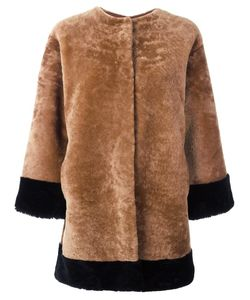 Daniela Pancheri | Collarless Buttoned Jacket Ii Sheep Skin/Shearling/Spandex/Elastane/Viscose