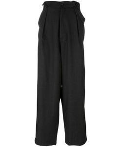 SOCIETE ANONYME | Société Anonyme Pleats Trousers Adult Unisex Large Wool