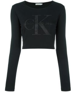 Calvin Klein Jeans | Logo Longsleeved Cropped T-Shirt Medium
