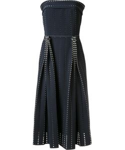 Dion Lee | Pleated Perforated Dress 8 Silk/Polyamide/Polyester/Spandex/Elastane