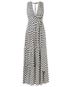 Reinaldo Lourenço | V-Neck Printed Dress 40 Silk