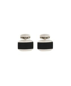 Rt By Tate Tateossian | Classic Cufflink Rhodium/Glass