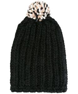 Danielapi | Pompom Ribbed Beanie Adult Unisex Polyamide/Wool/Alpaca