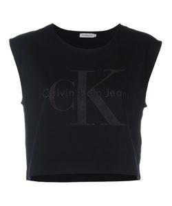 Calvin Klein Jeans | Logo Cropped Tank Top Large