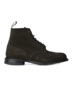 Church'S | Brogue Detail Lace-Up Boots 8 Leather/Suede/Rubber