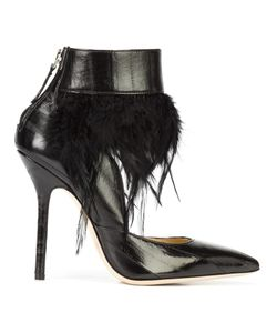 RACINE CARRÉE | Feather Detail Shoe Boots 39 Leather
