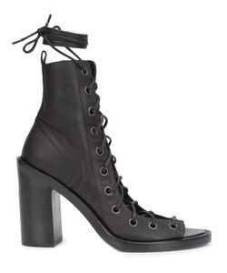 Ann Demeulemeester Icon | Open Lace-Up Boots 38.5 Leather
