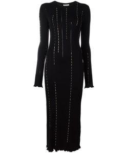 Nina Ricci | Embellished Longsleeved Dress Large Viscose