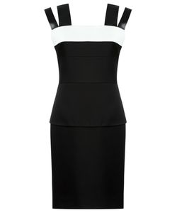 GLORIA COELHO | Panelled Dress 38 Leather/Polyester/Acetate