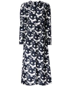 Nina Ricci | Cat Print Dress 38 Silk