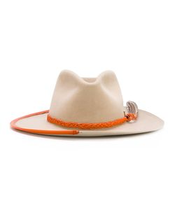 NICK FOUQUET | Embellished Pendant Hat Wool Felt