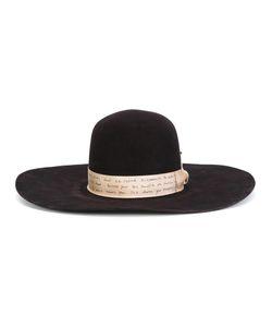 NICK FOUQUET | Contrast Strap Hat Wool Felt