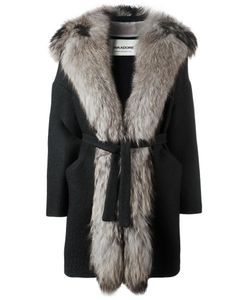 AVA ADORE | Fur Trim Coat 40 Acrylic/Acetate/Viscose/Raccoon Dog