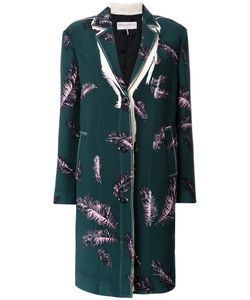 Emilio Pucci | Feather Print Coat 40 Wool