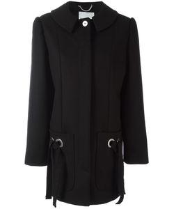 Kenzo | Ribbon Fastening Coat 40 Cotton/Polyamide/Acetate/Virgin Wool