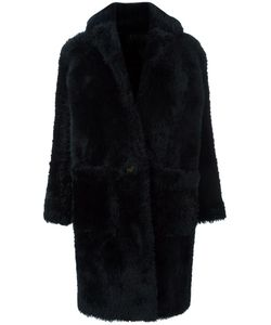 Helmut Lang | Oversized Coat Small Cotton/Sheep Skin/Shearling/Cupro/Wool