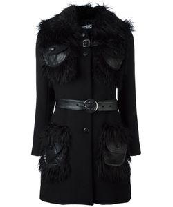 Jeremy Scott | Fur Collar Coat 44 Modacrylic/Polyester/Wool
