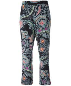 Etro | Paisley Print Trousers 42 Silk