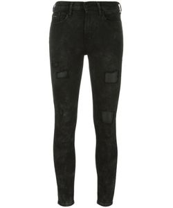 Calvin Klein Jeans | Skinny Cropped Trousers Small Nylon/Polyester/Spandex/Elastane/Viscose