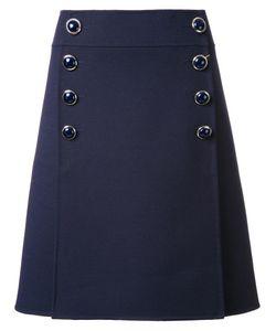Michael Kors | Buttoned A-Line Skirt 2 Polyamide/Virgin Wool