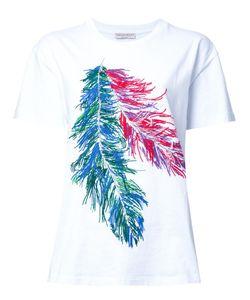 Emilio Pucci | Feather Print T-Shirt Large Cotton