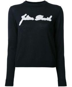 Julien David   Intarsia Detail Jumper Small Wool