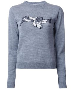 Julien David | Intarsia Detail Jumper Large Wool