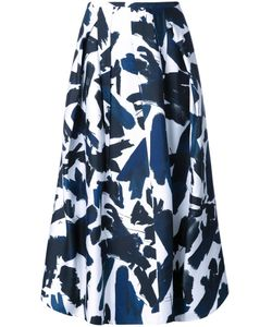 Jil Sander | Brushes Printed Skirt 36 Silk/Viscose