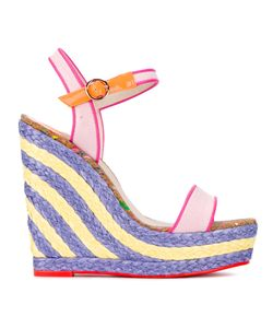 Sophia Webster | Lucita Sand Wedge Sandals 37.5 Cotton/Leather/Rubber