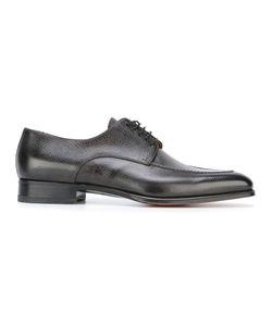 Santoni | Pebbled Texture Derby Shoes 41.5 Leather