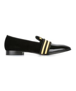 Louis Leeman | Embroidered Detailing Slippers 43 Leather/Patent Leather/Velvet