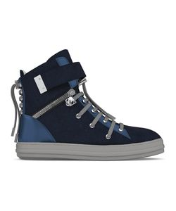 MYSWEAR | Regent Hi-Top Sneakers 44 Calf Leather/Leather/Suede/Rubber