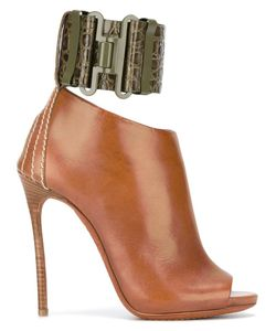 Dsquared2 | Military Heeled Sandals 39 Calf Leather/Leather