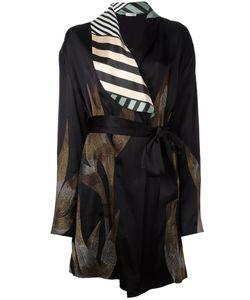 ATTICO | Embroidered Satin Kimono 1 Silk/Acetate Fibre