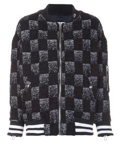 Adaptation   Reversible Check Bomber Jacket Small Virgin Wool