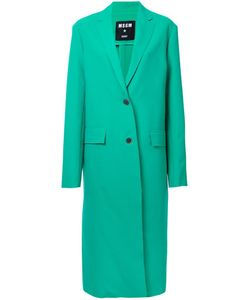 MSGM | Single Breasted Coat 44 Polyester/Spandex/Elastane/Viscose