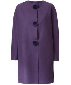 Ermanno Scervino   Pompom Buttons Coat 50 Virgin Wool