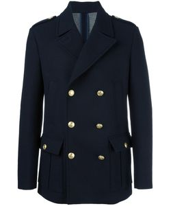 Pierre Balmain | Double-Breasted Short Coat 50 Polyamide/Polyester/Spandex/Elastane/Polyacrylic