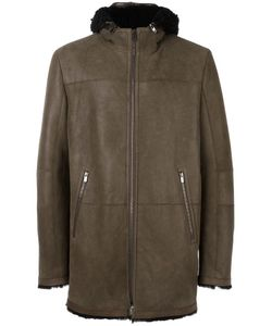 Drome | Zipped Hooded Coat Xxl Lamb Fur/Lamb Nubuck