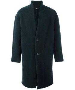 SYSTEM HOMME | Single Breasted Coat Small Nylon/Polyurethane/Wool