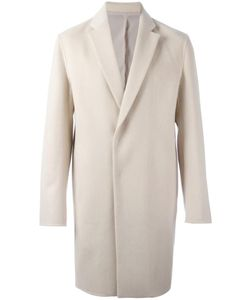 SYSTEM HOMME | Single Breasted Coat Small Polyurethane/Wool