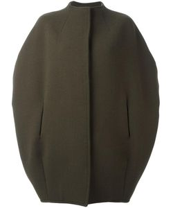 Gianluca Capannolo | Collarless Shortsleeved Jacket 42 Nylon/Polyamide/Spandex/Elastane/Virgin Wool