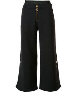 Ellery | Wide Leg Cropped Trousers 4 Cotton/Nylon/Spandex/Elastane/Wool